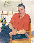 Portrait of Artist Piotr Vasiliev. 1961. Painting of Piotr D. Buchkin