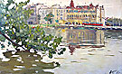 Leningrad. On the Islands. 1962. Painting of Alexander P. Koroviakov